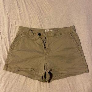 Gently worn khaki shorts